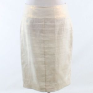 Katherine Barclay ivory linen pencil skirt 4 34